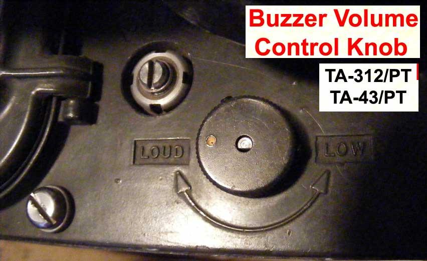 TA-312/PT TA-43/PT Buzzer Control Knob