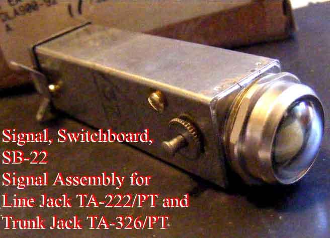 Signal Assembly TA-222/PT Circuit Line Jack and TA-326/PT Circuit Trunk Jack