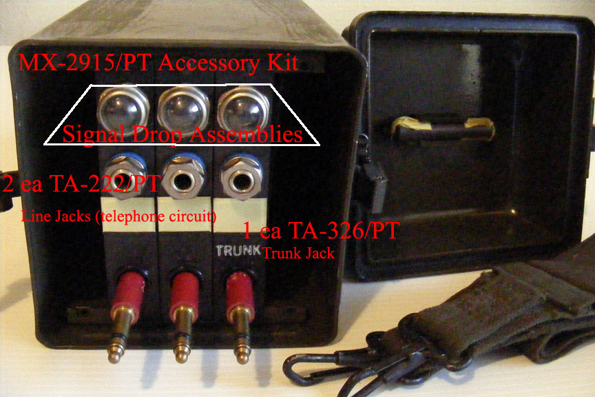 Signal Assembly TA-222/PT Circuit Line Jack and TA-326/PT Circuit Trunk Jack