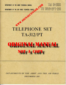Technical Manual 312/PT Telephone set