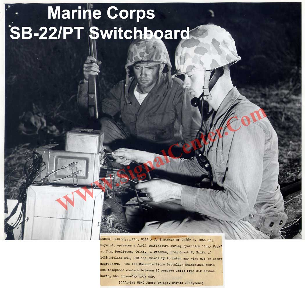 U.S.Marines with SB-22/PT Switchboard