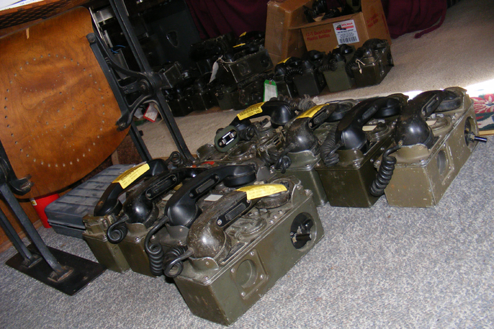 TA-312/PT field telephones being tested