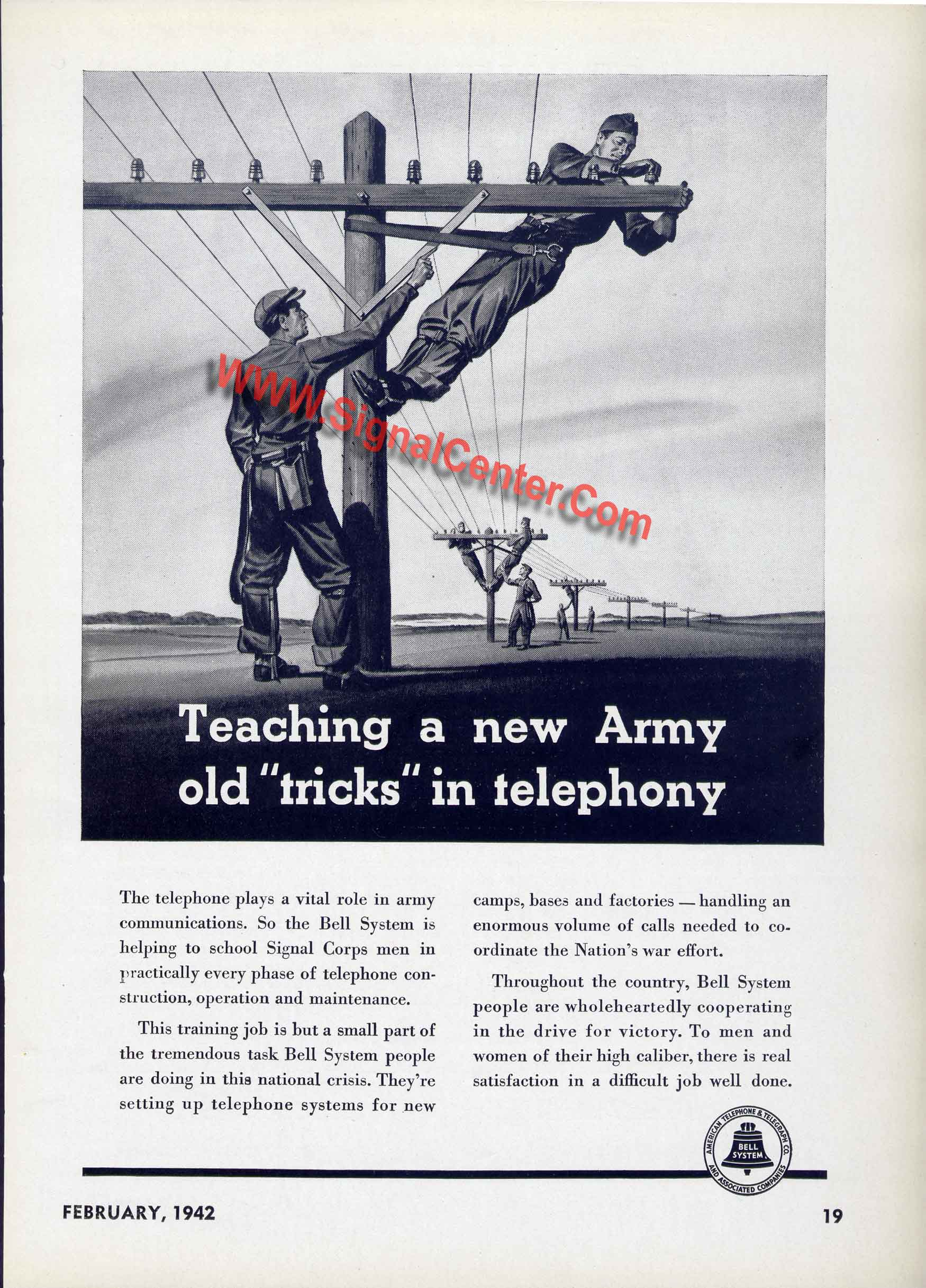 Telephone Pole training