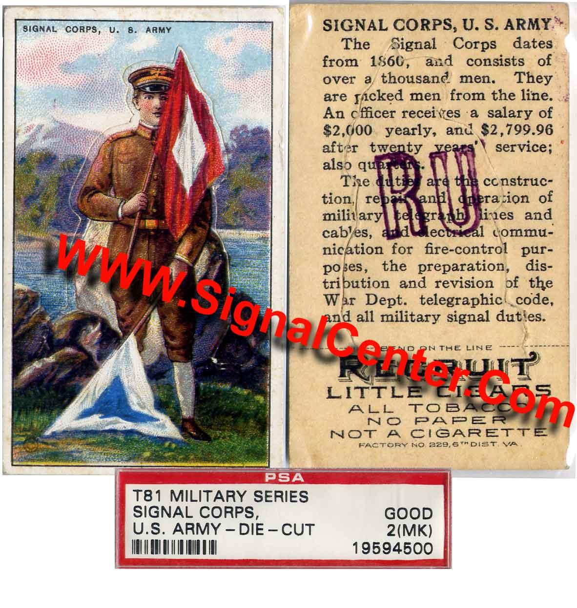 Semaphore Signal Flag Soldier