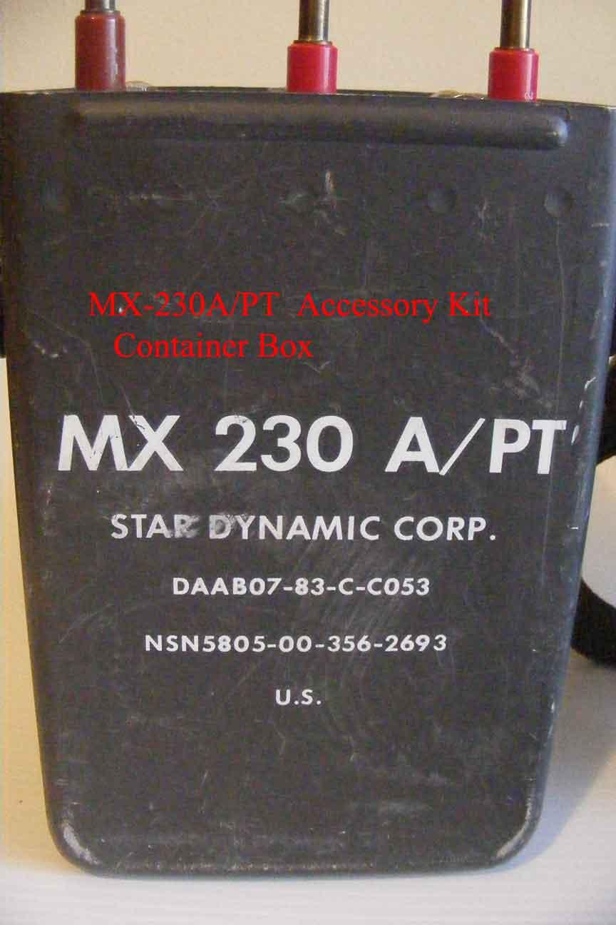 Box Container for  MX-230A/PT SB-22/PT Accessory Kit