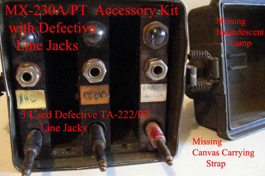 used MX-230A/PT SB-22/PT Accessory Kit