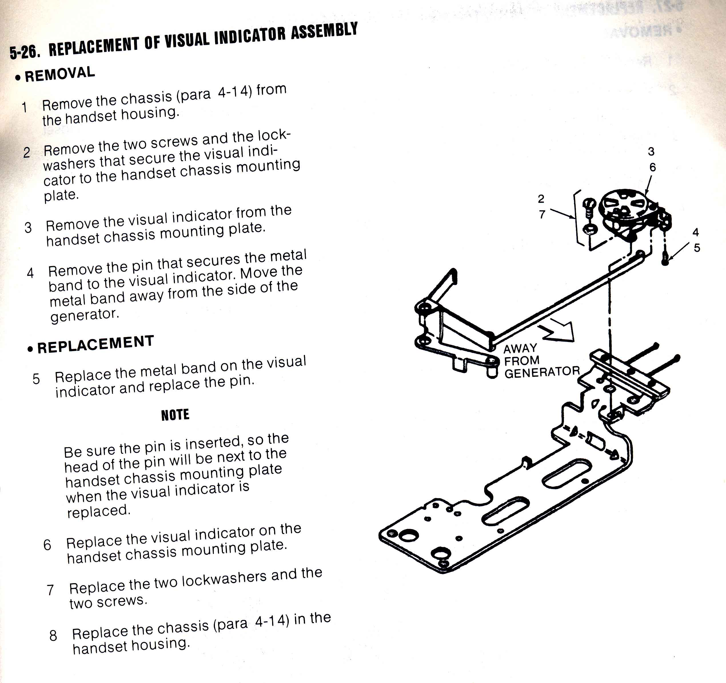 Visual Indicator disassembly instructions