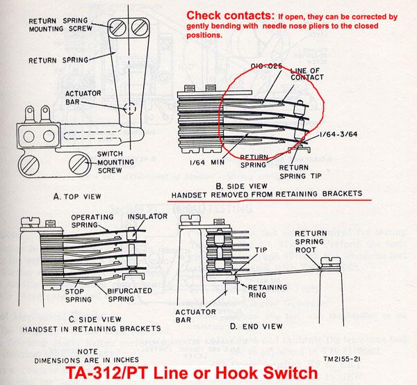 line switch, hook switch