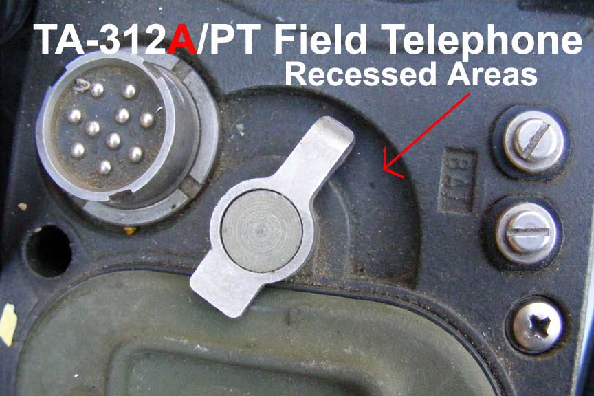 TA-312A/PT recessed areas