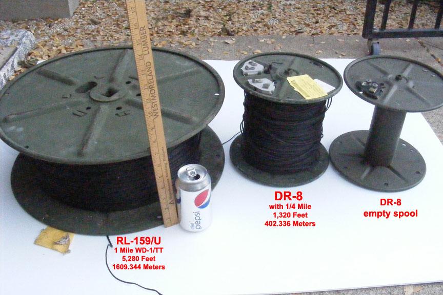 1 mile RL-159/U 1/4 mile DR-8 Spools